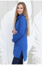 1-66505Е Туника (платье) для беременных и кормящих мам васильковый