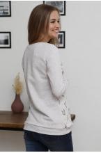 2-230505Е  Джемпер женский для беременных и кормящих бежевый/золотистый