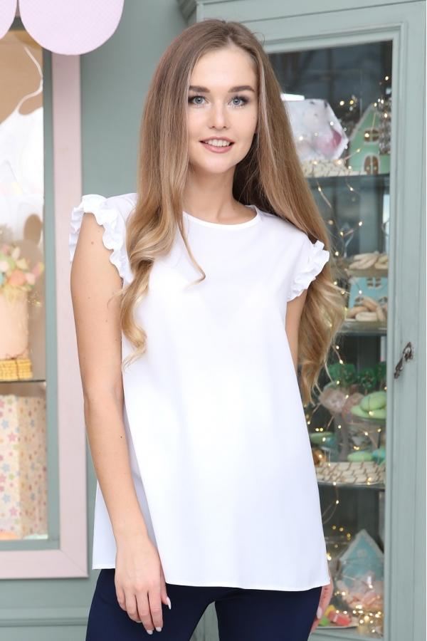 1-35528 Блузка женская для беременных белый
