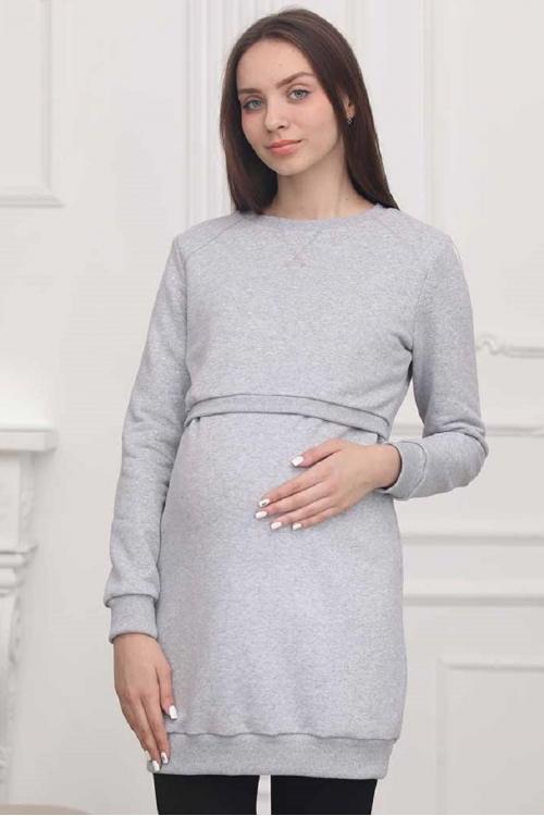 2-НМ 41314 Туника для беременных и кормящих женщин серый