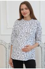 2-НМ 55114 Джемпер женский для беременных и кормящих серый меланж/черный