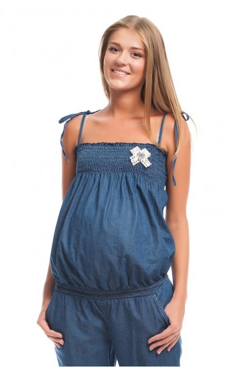 6182.116 Блуза-топ джинсовый синий