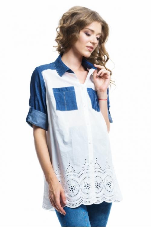 6233.4430 Блуза прямого силуэта для кормления