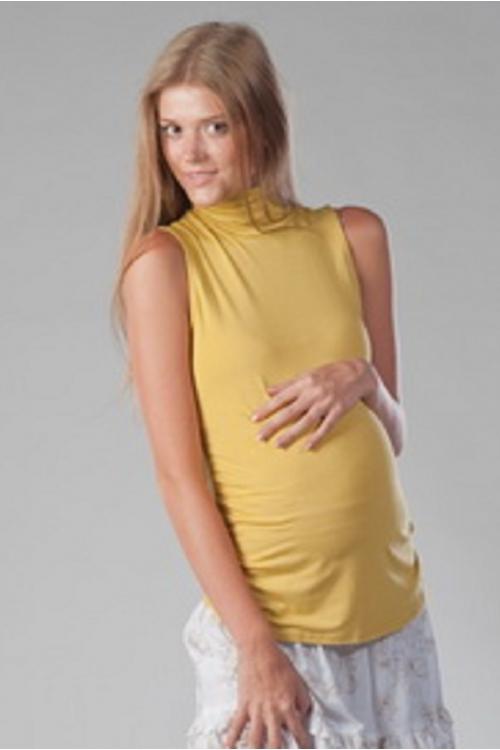 7128.1842 Водолазка для беременных без рукава горчичный