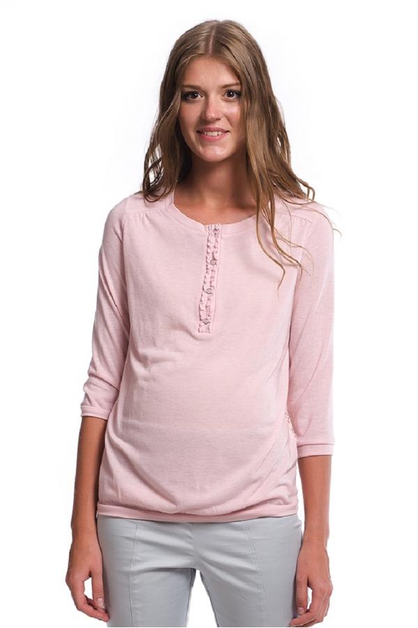 7525.3617 Блуза трикотажная прямого силуэта для кормления комбинированная