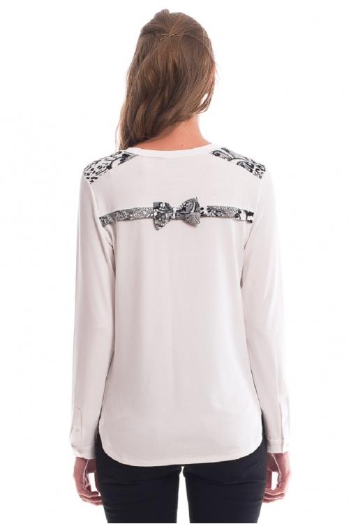 7542.1781 Блуза трикотажная прямого силуэта для кормления