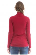 7581.3584 Блуза трикотажная прямого силуэта клюква