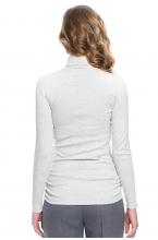 7581.3895 Блуза трикотажная прямого силуэта серый меланж