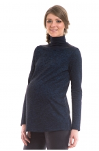 7588.3968 Блуза трикотажная прямого силуэта темно-синий меланж