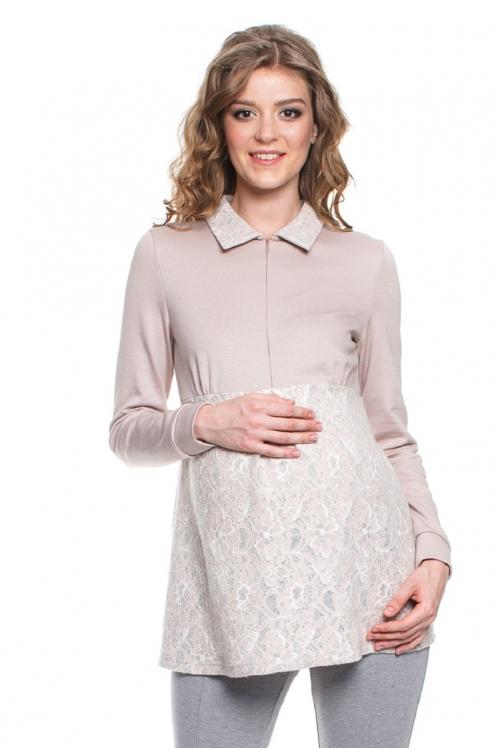 7654.3993 Блуза трикотажная Х-образного силуэта для кормления