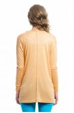 7672.4505 Блуза трикотажная прямого силуэта персик