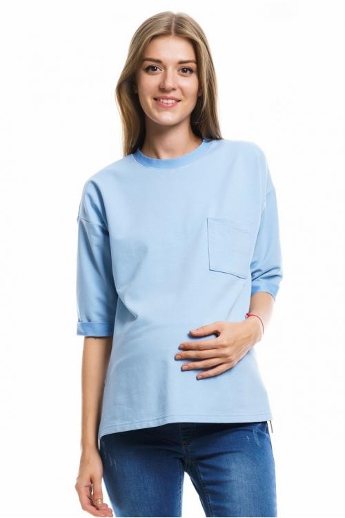 7674.441 Блуза трикотажная прямого силуэта для кормления