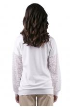 7738.3751 Нарядная блузка для беременной с декором белый