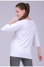 7768.3751 Блуза трикотажная прямого силуэта с принтом для кормления