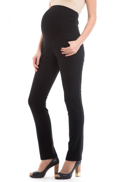 2693.5901 Зауженные брюки с высокой эластичной круговой кокеткой утепленные черный