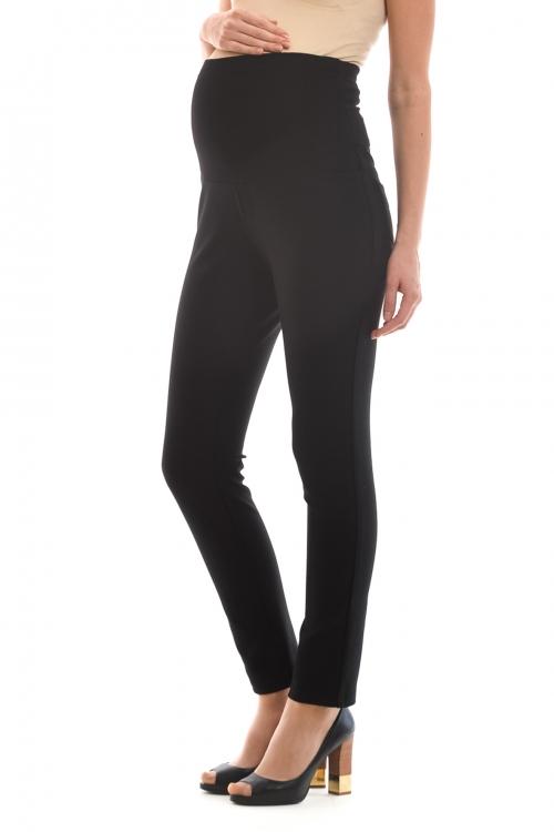 2696.148 Облегающие эластичные брюки для беременной на широком поясе черный