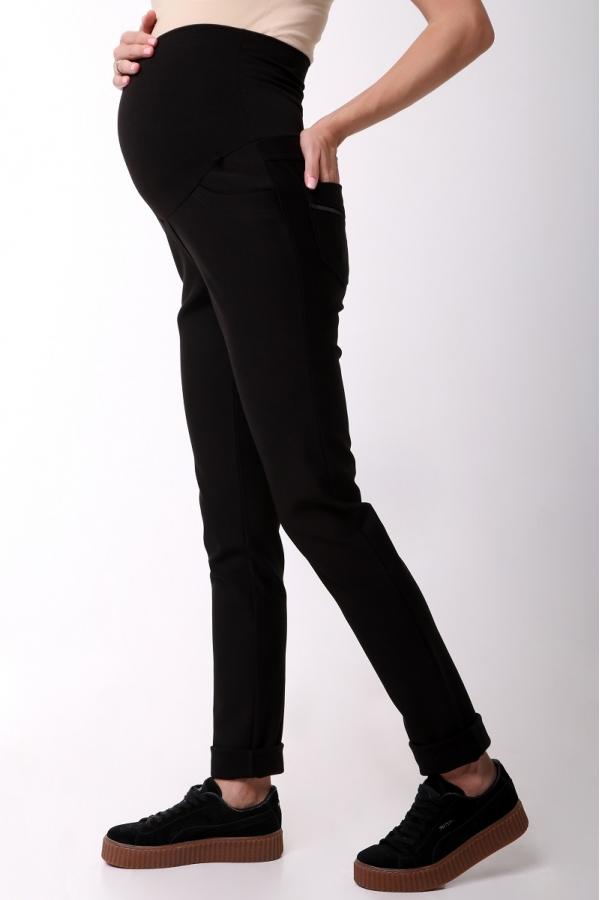 2720.4239 Облегающие утепленные брюки зауженного силуэта с поясом черный