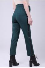 2757.4245 Стильные брюки из трикотажа с лампасами из репсовой ленты тёмно-бирюзовый