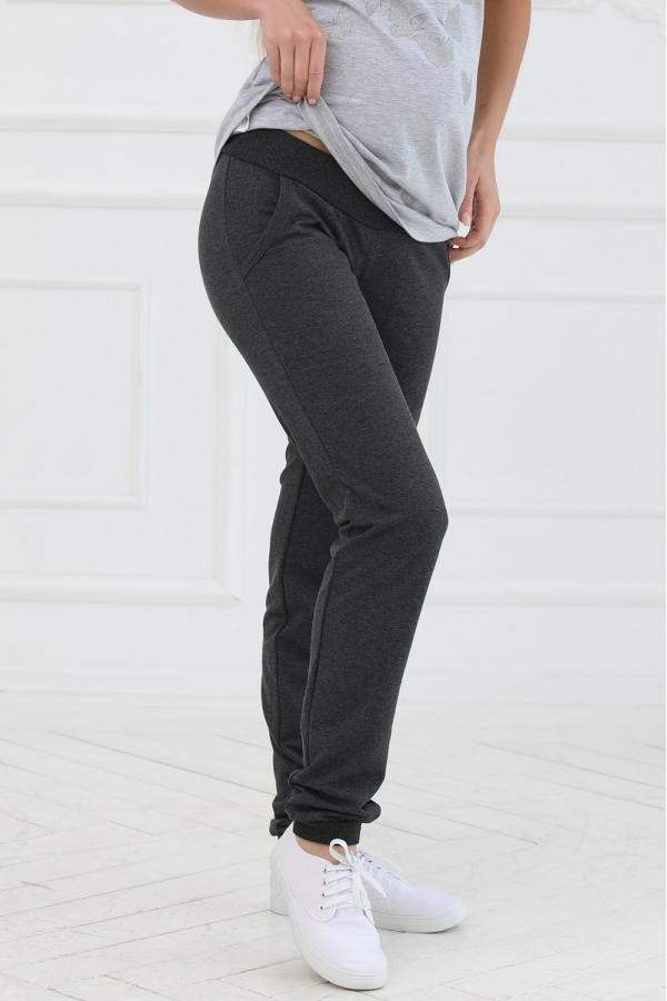 1-242505 Брюки женские  для беременных темно-серый