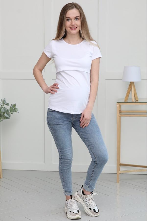 1-163505 Джинсы для беременных женщин голубой