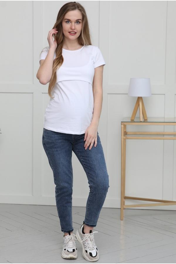 1-164505 Джинсы для беременных женщин синий