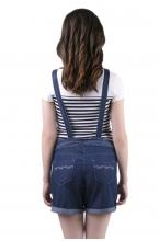 1035.1062 Полукомбинезон джинсовый прямого силуэта укороченный