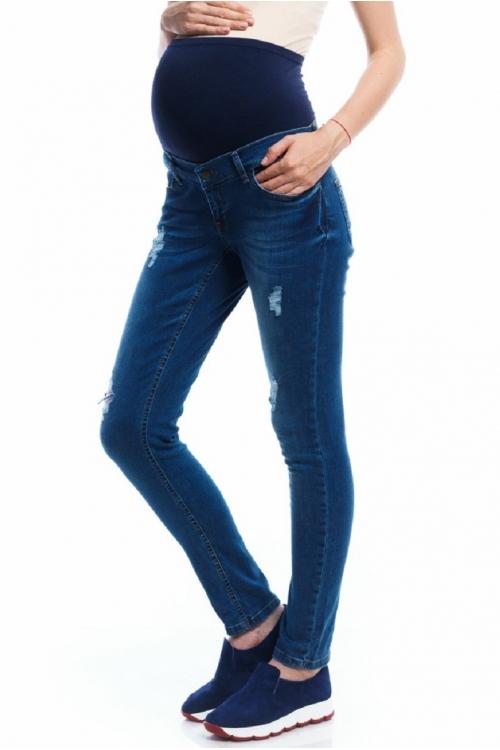 2101.0040 Джинсовые брюки узкого силуэта синий