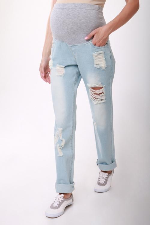 """2106.0018 Брюки джинсовые прямого силуэта """"бойфренды"""""""