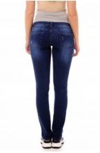 2109.0039 Джинсовые брюки зауженного силуэта темно-синий
