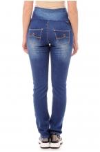 2207.0033 Брюки джинсовые на флисе зауженного силуэта темно-голубой