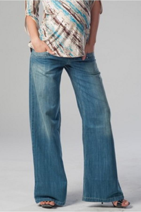 2425.7252 Брюки джинсовые широкого силуэта синий
