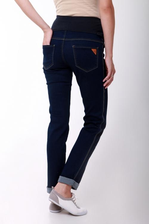 2478.0031 Брюки джинсовые зауженного силуэта с круговой трикотажной кокеткой синий