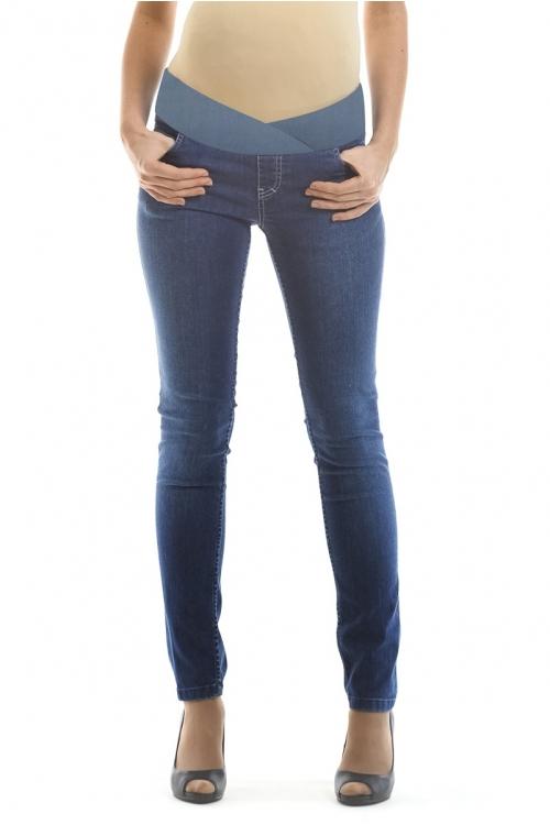 2502.1064 Брюки джинсовые зауженного силуэта с круговым эластичным поясом