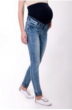 2684.0023 Брюки джинсовые узкого силуэта с круговым эластичным поясом