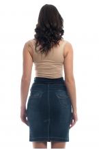 369.9021 Юбка джинсовая прямого силуэта синяя