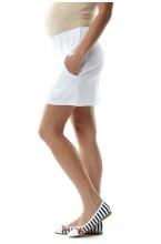 370.2201 Юбка для беременных с трикотажным бандажным поясом белый