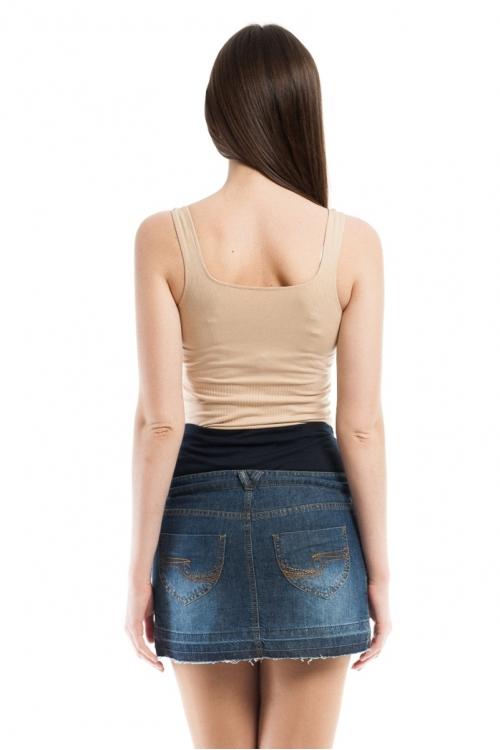 5236.9503 Юбка джинсовая прямого силуэта синий