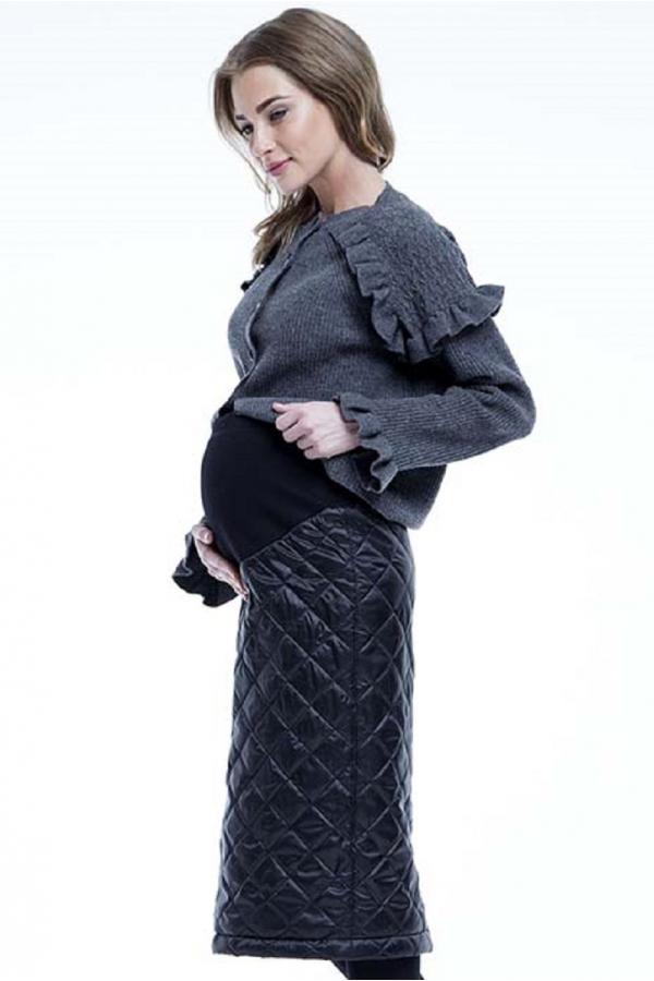 Юбка Encharm утеплённая с высоким круговым трикотажным поясом черный