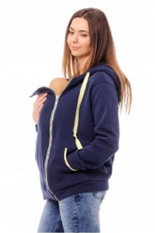 1104.0015 Куртка-слинг от NEWFORM прямого силуэта темно-синий