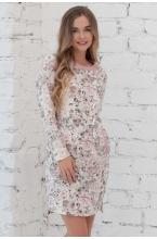 1-01505Е Платье женское для беременных молочный-лиловый