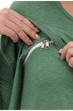 1-112514Е Платье женское для беременных и кормящих зеленый