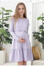 1-232507Е Платье для беременных и кормящих лавандовый