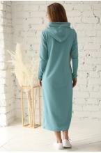 1-235505Е Платье женское для беременных и кормящих серо-зеленый