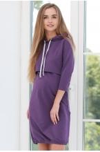 1-75505В Платье женское для беременных и кормящих фиолетовый