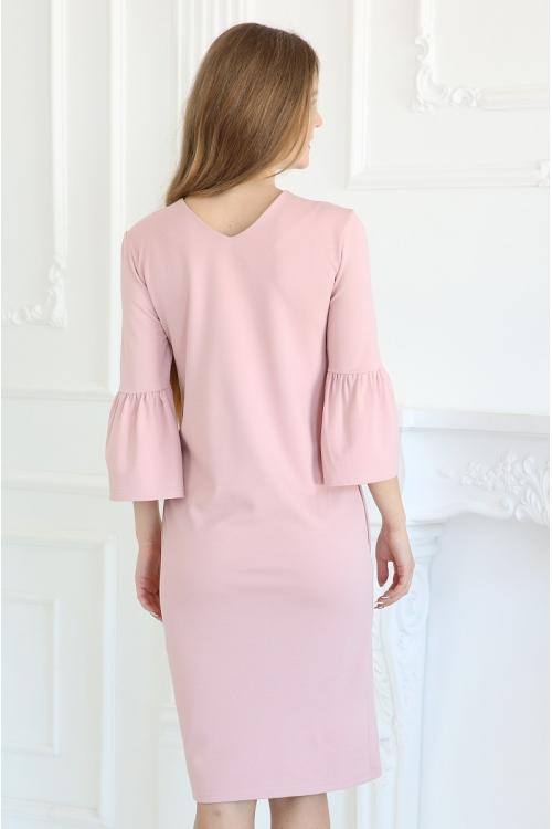 1-93507В Платье для беременных и кормящих бледно-розовый