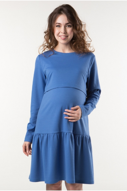 2-НМ 43811 Платье ФЭСТ для беременных и кормящих синий