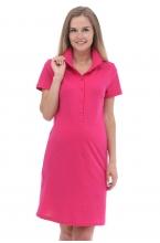 3-27504А  Платье поло для беременных и кормящих  малиновый