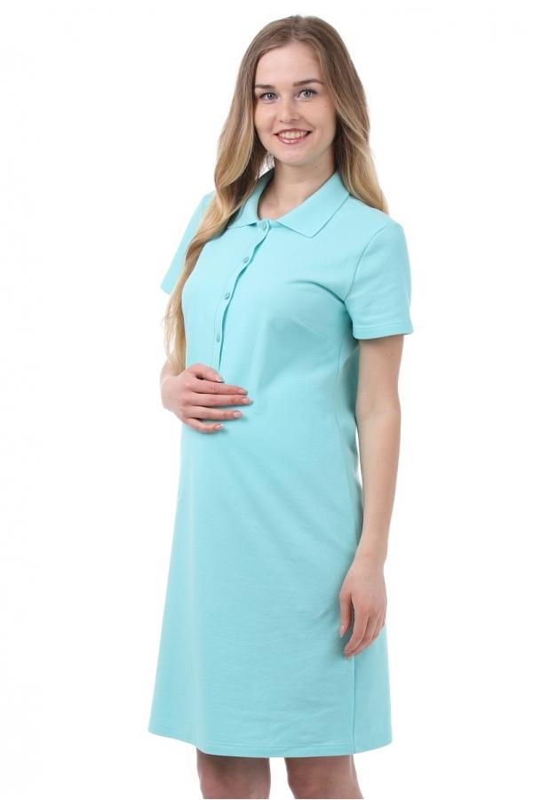 3-27504А Платье поло для беременных и кормящих светло-зеленый