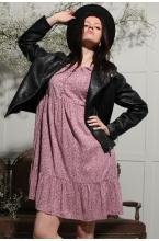 3-141504В Платье для беременных и кормящих женщин пурпурный/лиловый