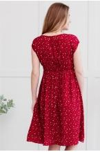 3-32504 Платье  для беременных женщин красный